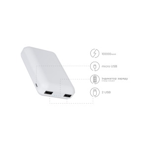 Power bank ERGO LP-С21 - 10000 mAh Li-pol White