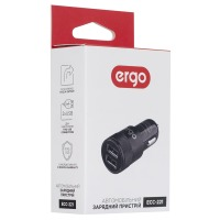Car Charger ERGO ECC-221 2.1A 2xUSB Car Charger Black